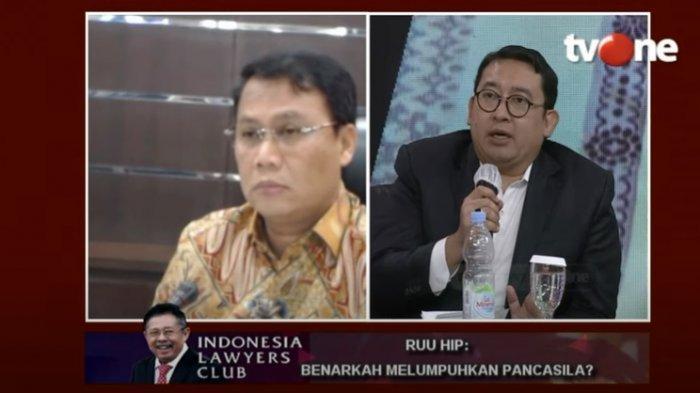 Serunya ILC Tadi Malam, Loyalis Prabowo Fadli Zon ke PDIP: Pancasila Itu Bukan Sekadar Bung Karno!