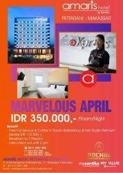 Marvelous April di Hotel Amaris Pettarani, Paket Kamar Rp 350 Ribu