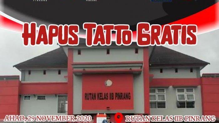 Mahtan Kembali Gelar Tour Hapus Tatto Gratis di Pinrang, Catat Tanggalnya