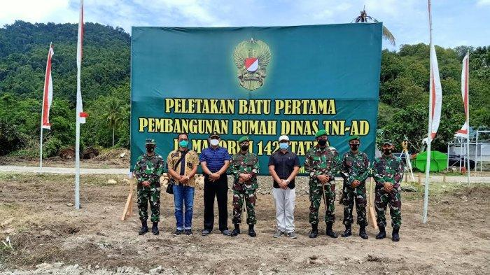 Pangdam XIV Hasanuddin Letakan Batu Pertama Pembangunan Rundis Makorem 142 Tatag