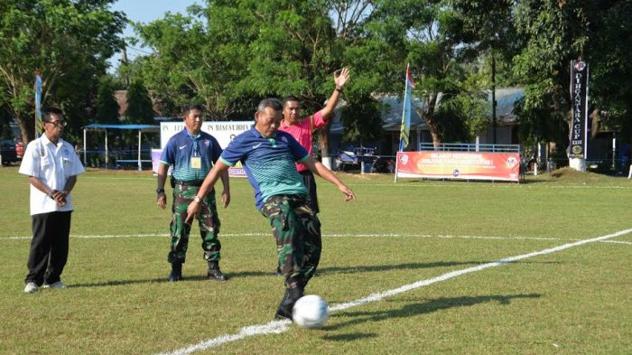 Pangkosekhanudnas II Buka Turnamen Sepak Bola Berhadiah Total Rp 100 Juta