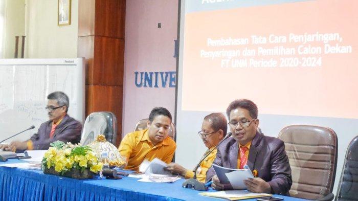 Pemilihan Dekan FT UNM Periode 2020-2024, Berikut Agendanya