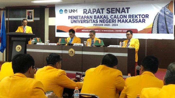 Senat UNM Tetapkan 4 Bakal Calon Rektor Periode 2020-2024, Ada Wanita hingga Punya 6 Gelar Magister - panitia-pemilihan-rektor-pilrek-bersama-dengan-senat-unm-menetapkan-4-balon-rektor-unm.jpg