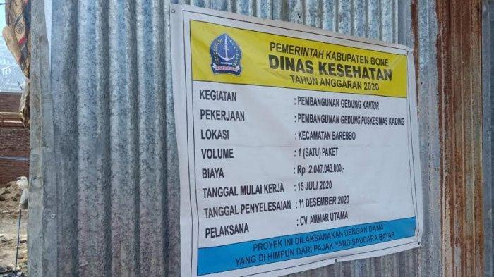 Tak Memiliki IPAL, Anggota DPRD Bone Soroti Pembangunan Puskesmas Kading
