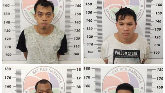 Empat DPO Narkoba Ditangkap di Kandang Ayam Kecamatan Baranti Sidrap