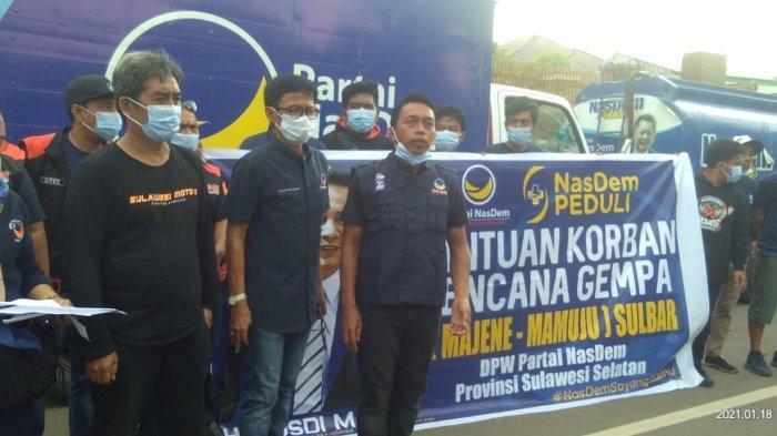 DPW Nasdem Sulsel Salurkan Bantuan ke Korban Gempa Sulbar