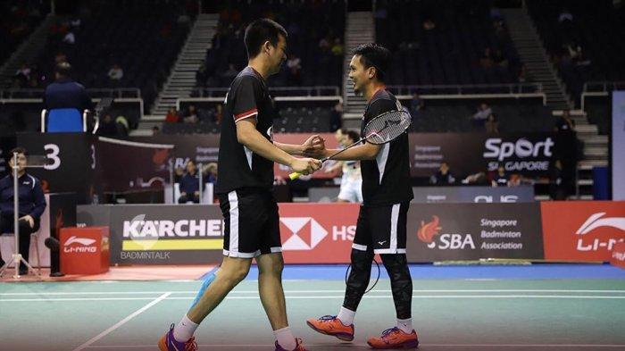 Hasil Japan Open 2019-Ahsan/Hendra Kalahkan Kamura/Sonoda, Tunggu Marcus/Kevin di Final