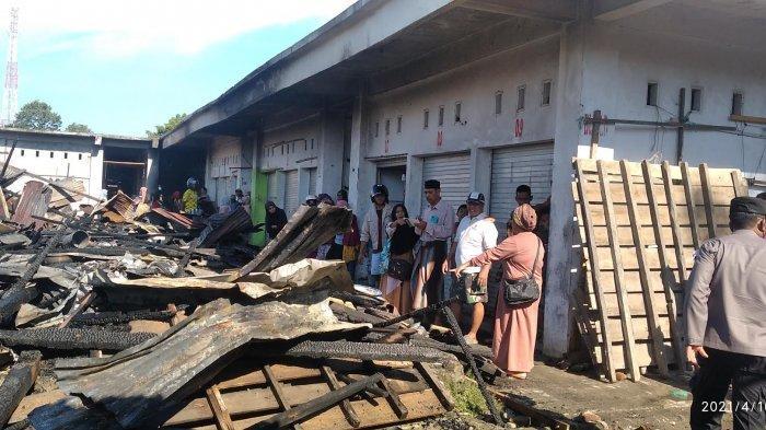 Anak-anak Main Petasan Diduga Penyebab Kebakaran Pasar Campalagian Polman