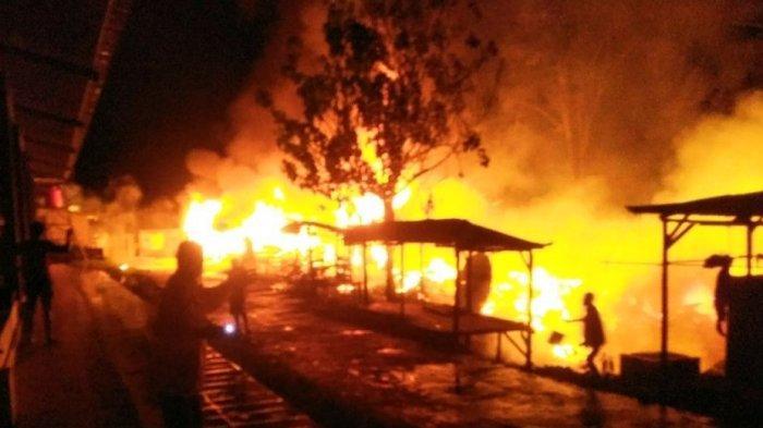 Kebakaran Pasar Baru Sangalla Tana Toraja Diduga Akibat Korsleting