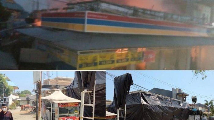 Pasca Kebakaran, Minimarket di BPS Sudiang Makassar Ditutupi Terpal