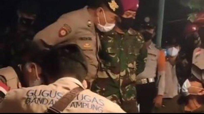 Viral Video Pedagang Minta Ditangkap Usai Dibentak Polisi, ini Penjelasan Satgas Covid-19 Lampung