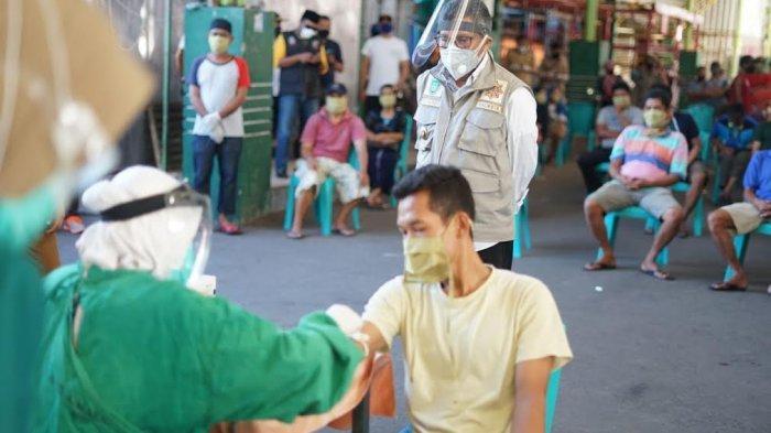 40 Pedagang di Pasar Senggol Parepare Negatif Hasil Rapid Test