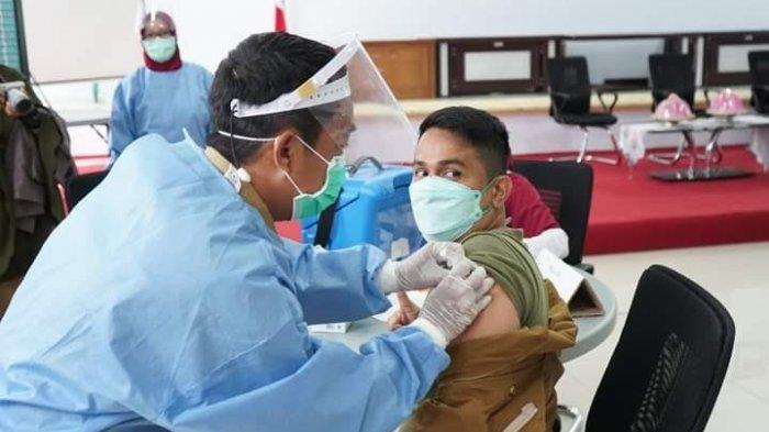 Akses Jaringan Internet Lambat, Ganggu Pelaksanaan Vaksinasi Covid-19 di Kantor Bappeda Enrekang