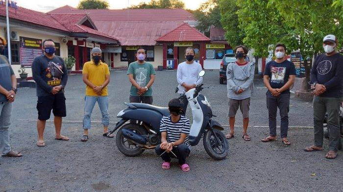 Polisi Ringkus Residivis Pencurian Motor di Tanete Riattang Bone