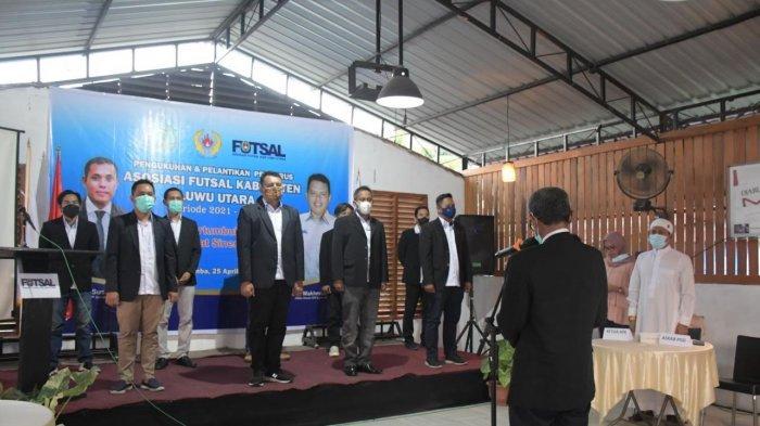 Hadiri Pelantikan AFK Luwu Utara, Bupati Indah Harap Futsal Berprestasi