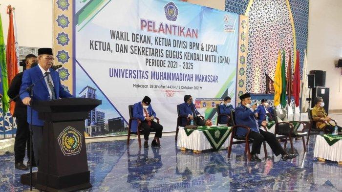 Lantik Wakil Dekan dan Pejabat Unismuh, Prof Ambo Asse: Jangan Sampai Ada Tugas Terbengkalai