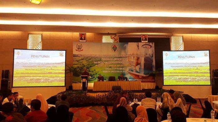 Kepala Dinas PMD Sulsel Tutup Pelatihan Peningkatan Kapasistas TPP