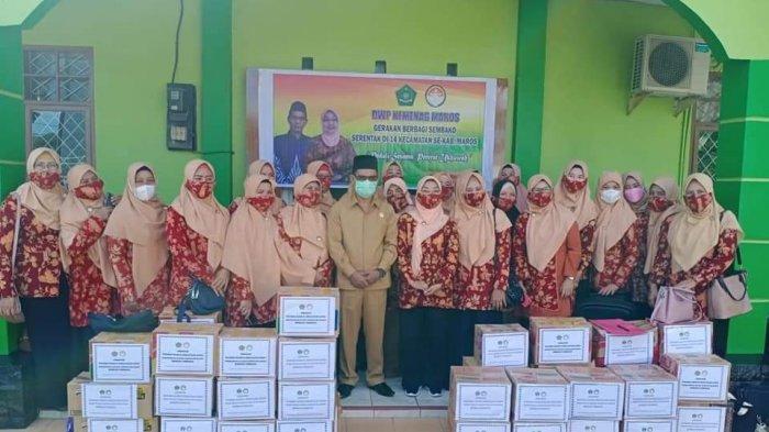DWP Kementerian Agama Maros Bagikan 80 Paket Sembako