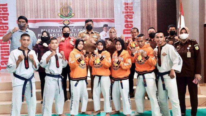 Tujuh Atlet PON XX Papua Cabor Tarung Derajat Dilepas di Gowa