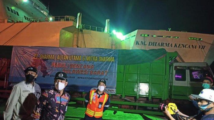 Dharma Lautan Utama Kirim Bantuan Senilai Rp 200 Juta ke Sulbar