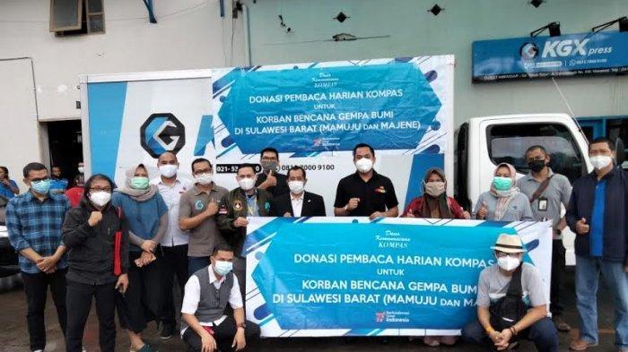 Peduli Korban Gempa Sulbar, Kompas Gramedia Salurkan Bantuan Sembako Senilai Rp 300 Juta