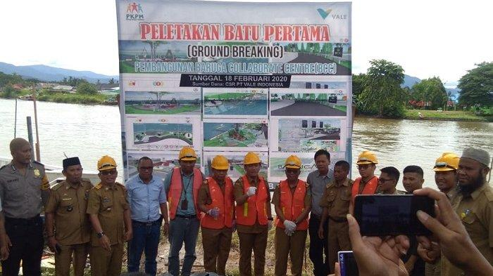 PKPM Vale Lutim Mulai Pembangunan BCC, Wabup Irwan Syam Lakukan Peletakan Batu Pertama