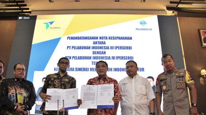 Pelindo III-Pelindo IV Teken Kerja Sama Tingkatkan Konektivitas dan Logistik Perdagangan di KTI