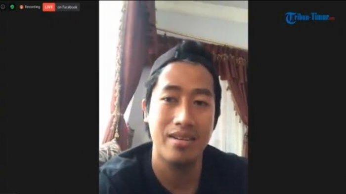 Pemain PSM Makassar, Bayu Gatra saat memaparkan harapannya dalam Bincang Bola Virtual yang dilaksanakan Media Tribun Timur, Selasa (9/6/2020).