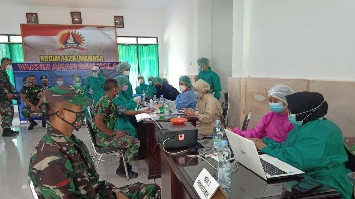 109 Anggota Kodim Mamasa Divaksin Tahap Kedua Hari Ini