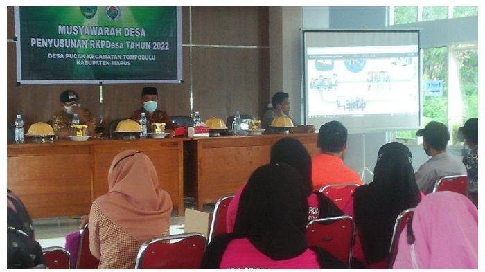 Pemdes Pucak Gelar Musyawarah Desa Dalam Rangka Penyusunan RKP Desa Tahun 2022