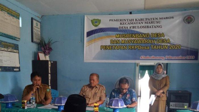 Serap Usulan, Desa Abulo Sibatang Maros Gelar RKP Bareng Warga