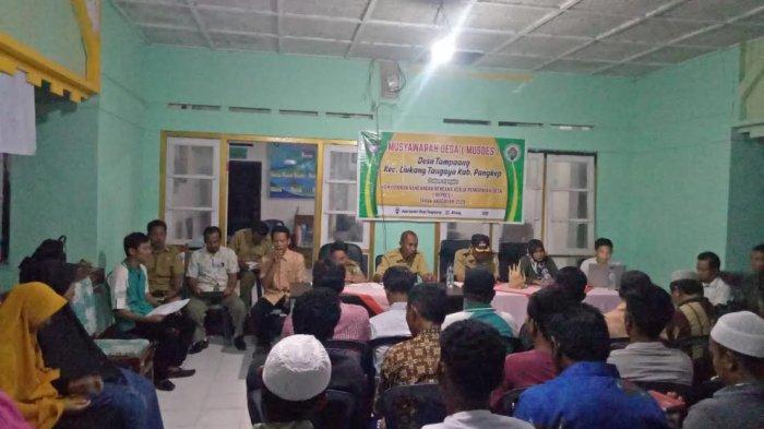 Pemerintah Desa Tampaang Pangkep Gelar Musdes RKPDes 2020