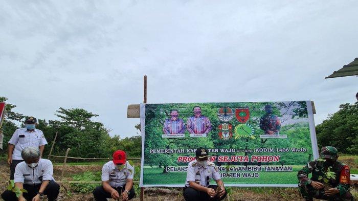 Gerakan Tanam Sejuta Pohon, Pemkab Wajo Ajak Masyarakat Peduli Lingkungan