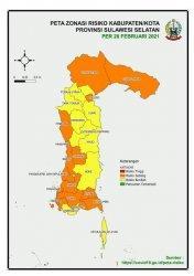 Kabupaten Wajo Kini Berstatus Zona Kuning Penyebaran Covid-19