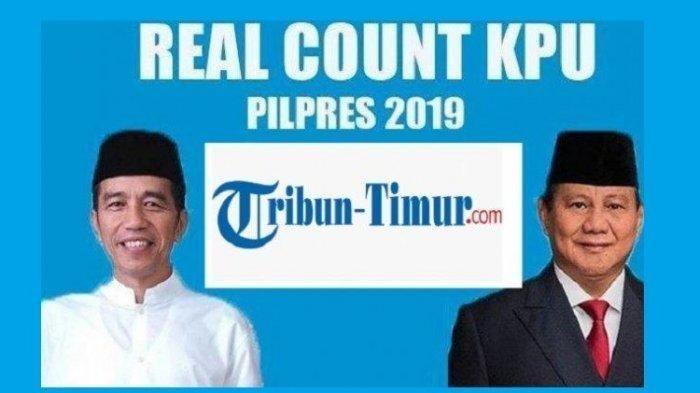 Update Situng Real Count KPU 13 Mei 2019 Pukul 05.00 WITA, Suara Prabowo Belum Mampu Kejar Jokowi