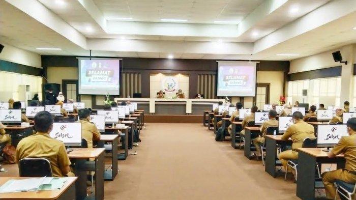 Pejabat Administrator Pemkab Wajo Ikuti Uji Kompetensi di BKD Sulsel