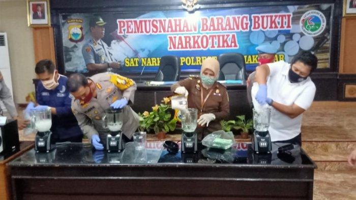 Polrestabes Gagalkan Peredaran Narkoba di Makassar, Satu Pelaku Ditembak