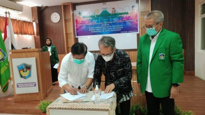 FKG UMI, Dinkes dan Puskesmas se-Kota Makassar Teken MoU