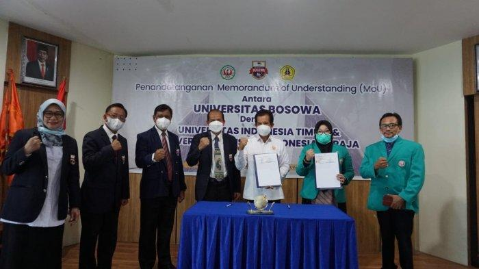 Unibos Teken Kerjasama dengan UKI Toraja dan UIT Makassar