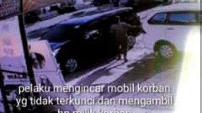Pura-pura Jadi Pengemis, Pria di Makassar Curi HP Dalam Mobil, Aksinya Terekam CCTV