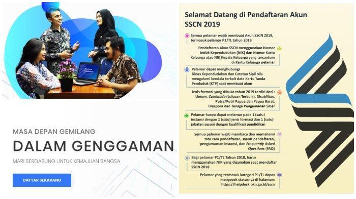 Update Pendaftaran CPNS 2019 di https://sscasn.bkn.go.id sscn.bkn.go.id: Instansi, Formasi 'Diserbu'