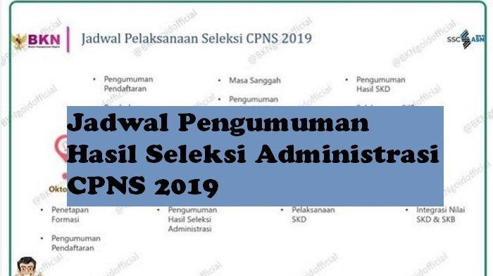Pendaftaran CPNS 2019 Segera Ditutup, Cek Jadwal Pengumuman Hasil Seleksi Administrasi CPNS 2019