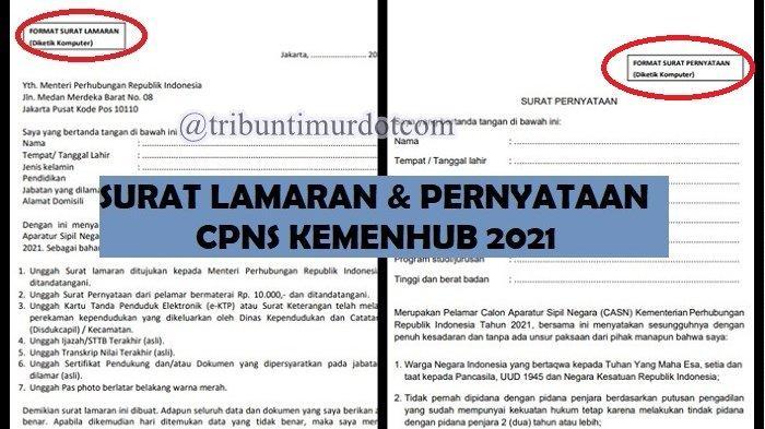 Pendaftaran CPNS Diperpanjang, Berikut Format Surat Lamaran dan Surat Pernyataan CPNS Kemenhub 2021