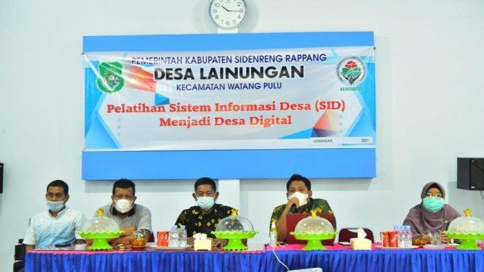 Desa Lainungan Sidrap Kenalkan Sistem Informasi Desa