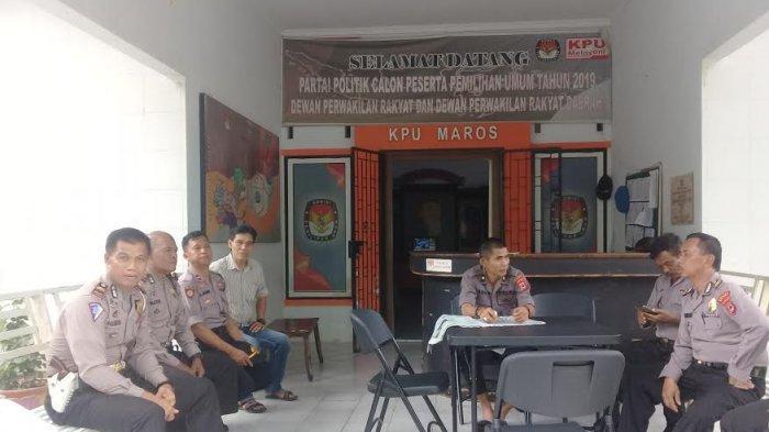 Pasca Rekapitulasi Hasil Pemilu 2019, 106 Polisi Jaga Ketat KPU Maros