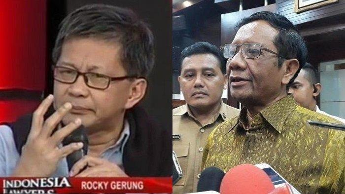 Pernyataan Mahfud MD di Media Dikritisi Rocky Gerung Bakal Jadi Boomerang, Tantang Debat di ILC!
