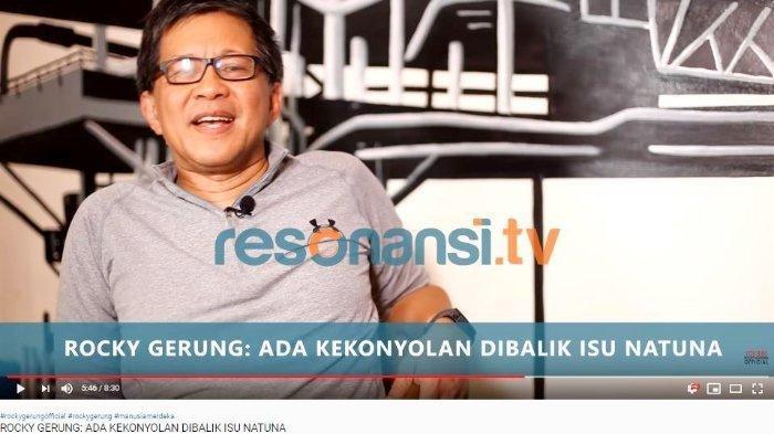 Soroti Polemik Natuna, Rocky Gerung Puji Prabowo Subianto Lebih Mengerti dan Sebut Begini Mahfud MD?