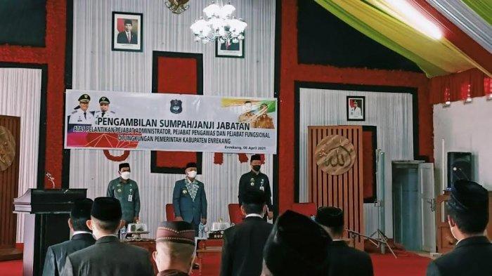 34 ASN di Enrekang Dimutasi, Baharuddin Dipercaya Jabat Camat Cendana