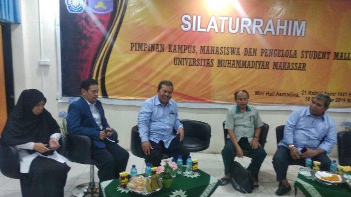 Pengelola Student Mall Unismuh Makassar Silaturrahim dengan Pimpinan Kampus dan Mahasiswa