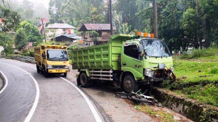 Truk Sabar Jaya vs Pengendara Trail di Rantetayo Tana Toraja, Satu Orang Dilarikan ke Rumah Sakit